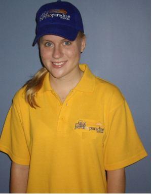 Laura in ride shirt