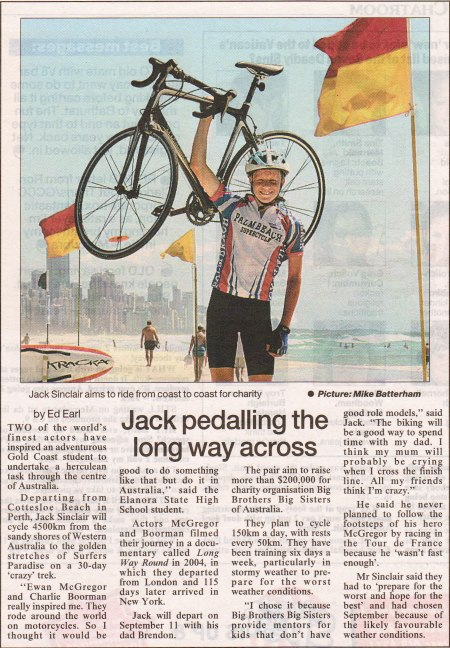 Jack in Gold Coast Bulletin